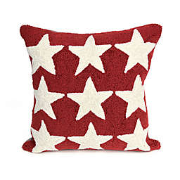 Liora Manne Frontporch Stars Square Indoor/Outdoor Throw Pillow