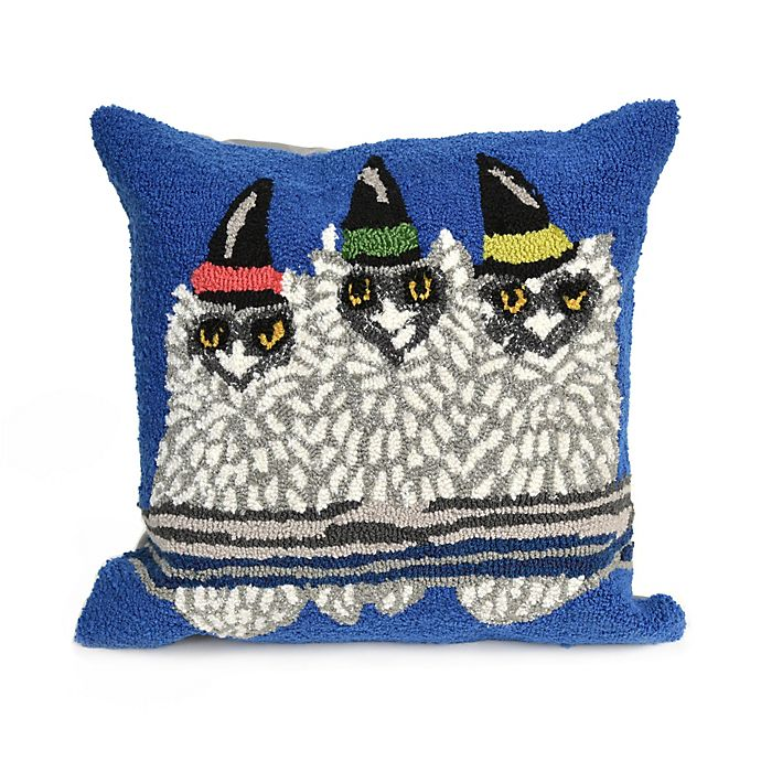 Alternate image 1 for Liora Manne Frontporch Owl-O-Ween Square Indoor/Outdoor Throw Pillow