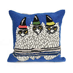 Liora Manne Frontporch Owl-O-Ween Square Indoor/Outdoor Throw Pillow