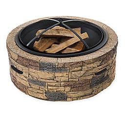 Sun Joe® 28-Inch Classic Stone Fire Pit
