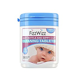 FizzWizz 30-Count Bottle & Sippy Cup Cleaning Tablets