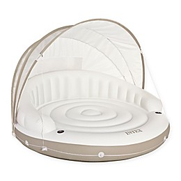 Canopy Island Inflatable Float Lounge in White