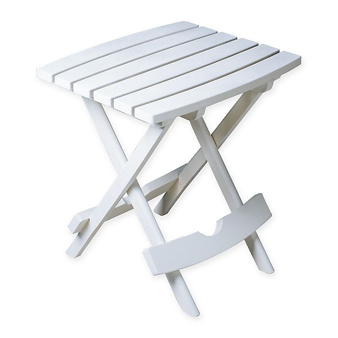 Alternate image 1 for Adams Manufacturing Rectangle All-Weather Quick Fold Side Table in White