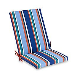 Stripe Indoor/Outdoor Folding Wicker Chair Cushion