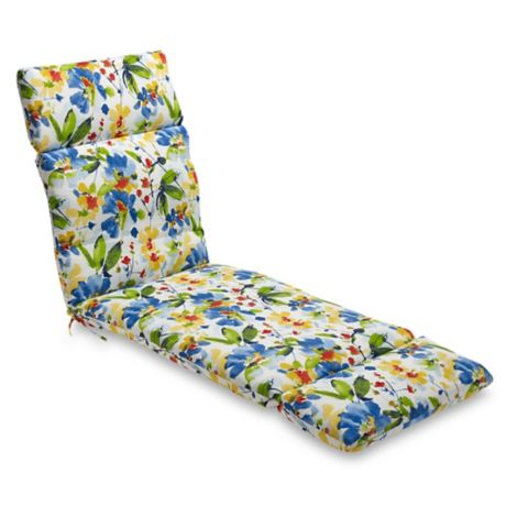 Buy Print Indoor Outdoor Chaise Lounge Chair Cushion In