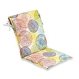Doily Outdoor Multicolor Sling Back Seat Cushion