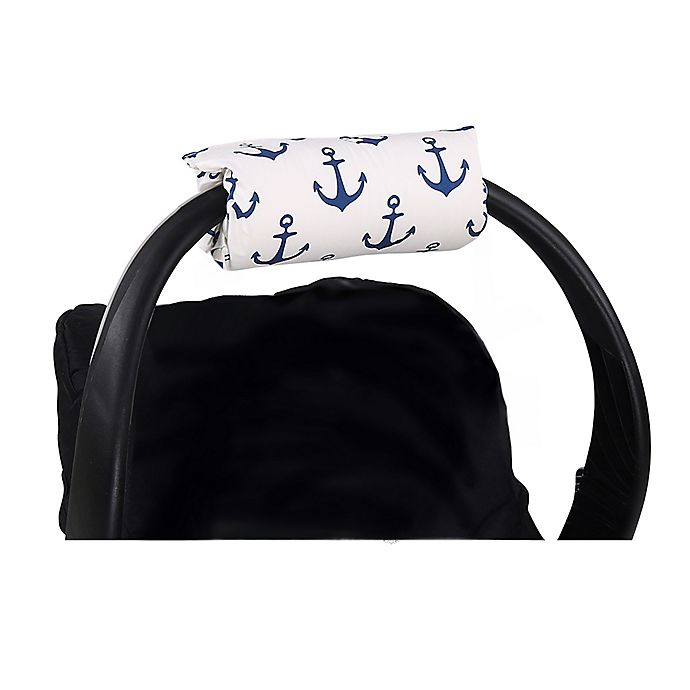 Alternate image 1 for The Peanutshell™ Carrier Cushion and Car Seat Strap Cover Set in Navy Anchor