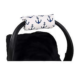 The Peanut Shell ® Carrier Cushion and Car Seat Strap Cover Set in Navy Anchor