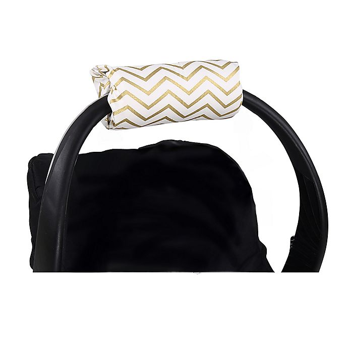 Alternate image 1 for The Peanutshell™ Carrier Cushion and Car Seat Strap Cover Set in Gold Chevron
