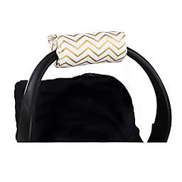 The Peanutshell™ Carrier Cushion and Car Seat Strap Cover Set in Gold Chevron