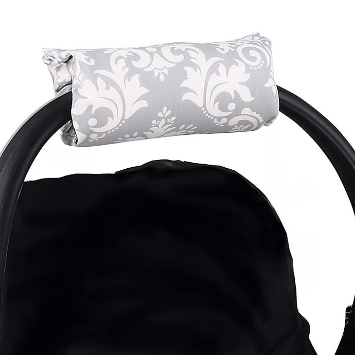 Alternate image 1 for The Peanutshell™ Carrier Cushion and Car Seat Strap Cover Set in Grey Damask