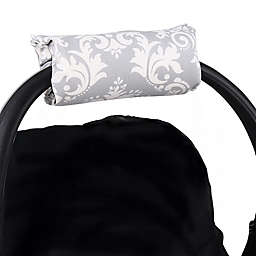 The Peanutshell™ Carrier Cushion and Car Seat Strap Cover Set in Grey Damask