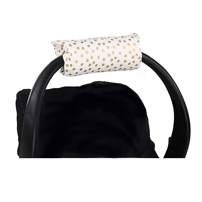 Alternate image 1 for The Peanutshell™ Carrier Cushion and Car Seat Strap Cover Set in Gold Dot