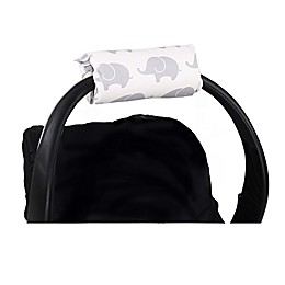 The Peanutshell™ Carrier Cushion and Car Seat Strap Cover Set in Grey Elephants