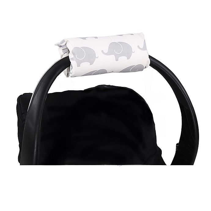 Alternate image 1 for The Peanutshell™ Carrier Cushion and Car Seat Strap Cover Set in Grey Elephants