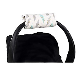The Peanutshell™ Carrier Cushion and Car Seat Strap Cover Set in Mint and Gold Feather