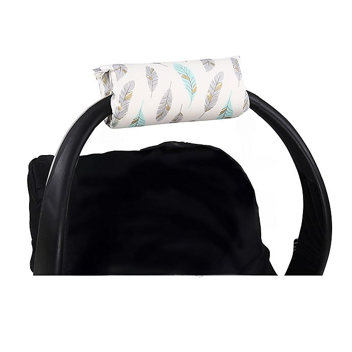 Alternate image 1 for The Peanutshell™ Carrier Cushion and Car Seat Strap Cover Set in Mint and Gold Feather