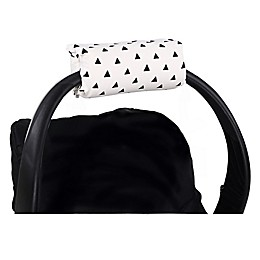 The Peanutshell™ Carrier Cushion and Car Seat Strap Cover Set in Black Triangle