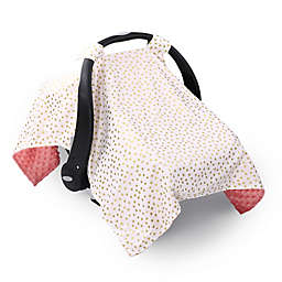 The PeanutShell™ Coral & Gold Dot Canopy Cover