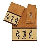 Avanti Kokopelli Fingertip Towel in Nutmeg