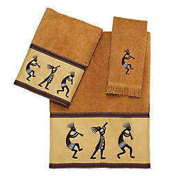 Avanti Kokopelli Hand Towel in Nutmeg