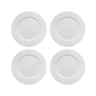 Elle Decor® Amelie Salad Plates in White (Set of 4)