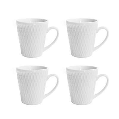 Elle Decor® Juliette Mugs in White (Set of 4)