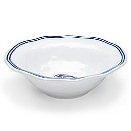 Q Squared Melamine Portsmouth Serving Bowl in Blue