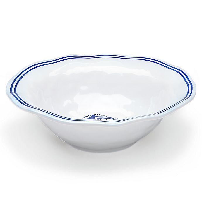 Alternate image 1 for Q Squared Melamine Portsmouth Serving Bowl in Blue