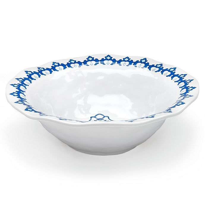 Alternate image 1 for Q Square Melamine Royal Lapis Serving Bowl in Blue
