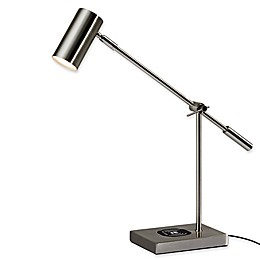 Adesso® Collette LED Desk Lamp with Charging Station