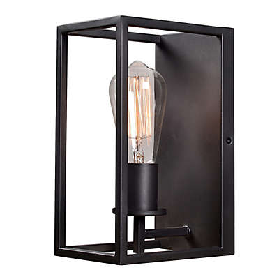 Kenroy Home Cubed 1-Light Wall Sconce in Graphite