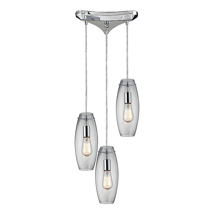Alternate image 1 for Menlow Park 3-Light Cycl Cluster Pendant Light in Polished Chrome