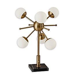 Adesso® Doppler 6-Light LED Table Lamp in Brass