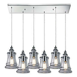 Elk Lighting Menlow Park 6-Light Pendant Light in Polished Chrome