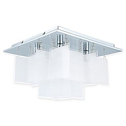 EGLO USA Condrada Semi-Flush Mount Ceiling Light in Chrome
