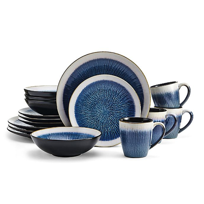 Alternate image 1 for Gourmet Basics by Mikasa® Reed 16-Piece Dinnerware Set