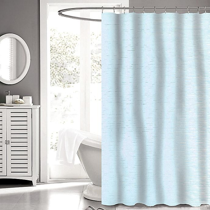 Alternate image 1 for Carlyle Fabric 72-Inch x 72-Inch Shower Curtain in Aqua