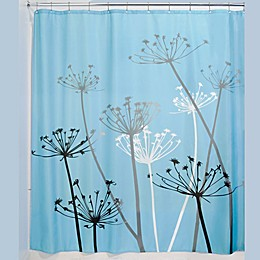 iDesign® Thistle Fabric Shower Curtain