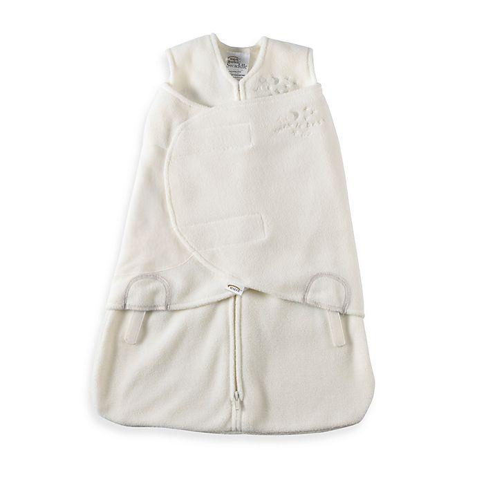 Alternate image 1 for HALO® SleepSack® Small Multi-Way Micro-Fleece Swaddle in Cream