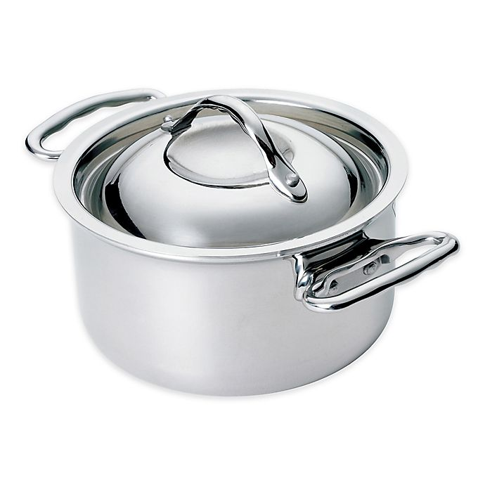Alternate image 1 for Thermalloy® Tri-ply Stainless Steel 15 oz. Mini Covered Stock Pot