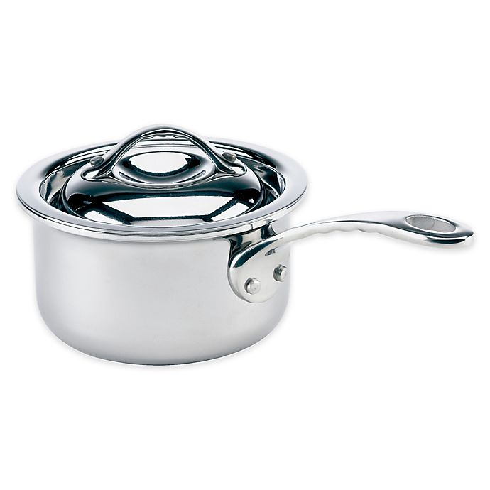 Alternate image 1 for Thermalloy® Tri-Ply Stainless Steel 10 oz. Mini Covered Saucepan