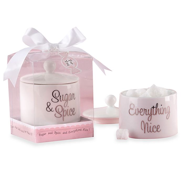 Kate Aspen Sugar Spice And Everything Nice Ceramic Sugar Bowl With