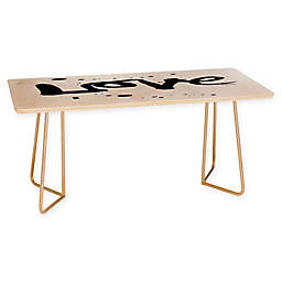 """Deny Designs Kal Barteski """"Love"""" Coffee Table in Black"""