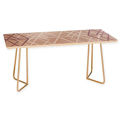 Deny Designs Mareike Boehmer Geometric Sketches Coffee Table in Pink