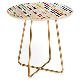 Deny Designs Khristian A. Howell Nolita Drops Round Side Table in Multi/Gold