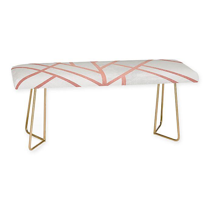 Alternate image 1 for Deny Designs Elisabeth Fredriksson Art Deco Rose Gold Bench in Pink