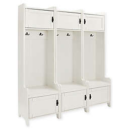 Crosley Furniture Fremont 3-Piece Towers in Distressed White
