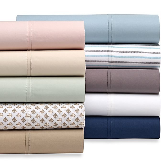 Alternate image 1 for Heartland® HomeGrown™ 325-Thread-Count Cotton Percale Flat Sheet