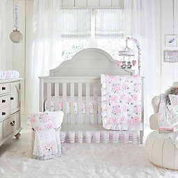 Wendy Bellissimo Savannah Watercolor Fl 4 Piece Crib Bedding Set